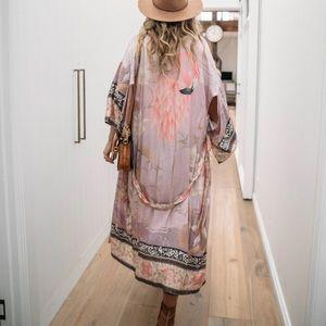 Vintage Western Boho Duster Robe